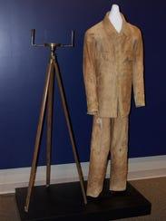 Alden Partridge's walking suit is on display at Norwich