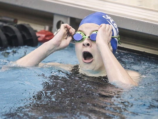 Spring Grove's Abigayle Keating looks up at the scoreboard