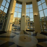 The rotunda at the newly expanded KI Convention Center in downtown Green Bay.