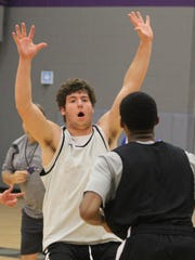 Bloomfield Hills senior forward Joe Hecker is a versatile