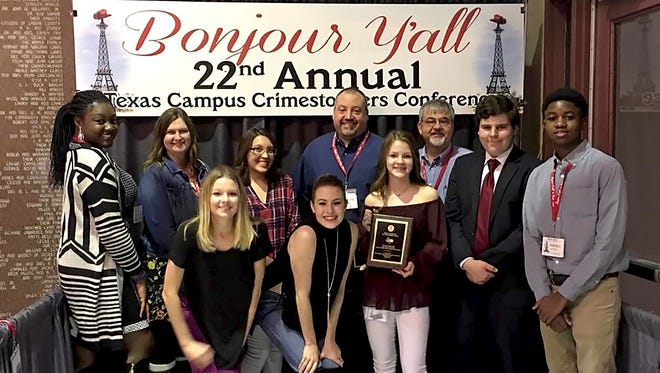 About a dozen students, board members and coordinators attended the 22nd annual Texas Crime Stoppers Conference in Paris, Texas last week and earned several top honors.