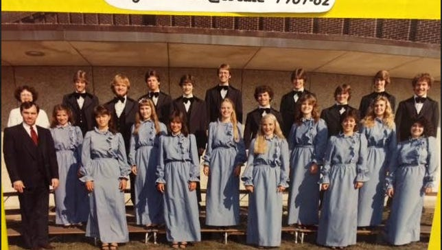 The Howell Highlander Chorale,class of 1982. One of the many choirs Rod Bushey, choirs director, taught.