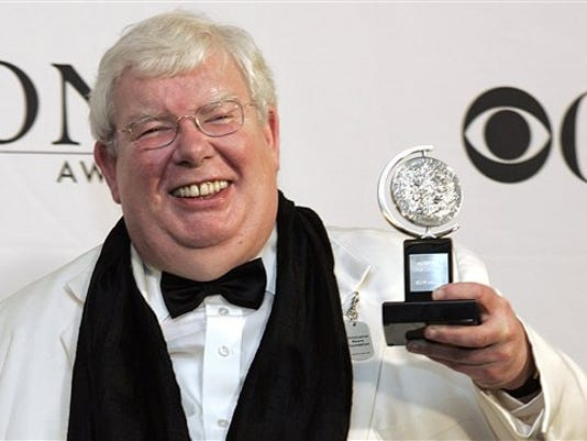 "Richard Griffiths, shown here at the Tony Awards in 2006, was the British actor who played the boy wizard's unsympathetic Uncle Vernon in the ""Harry Potter"" movies. He died Thursday. (AP photo)"