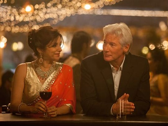 "Lillete Dubey, left, and Richard Gere in a scene from ""The Second Best Exotic Marigold Hotel."""