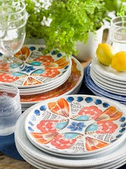 Melamine and acrylic dishware from Juliska is durable