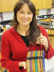 Elmira High School Interact club adviser Jennifer Carman-Clark