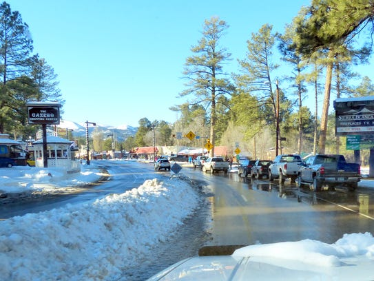 Sudderth Drive was reduced to two lanes when deep snow