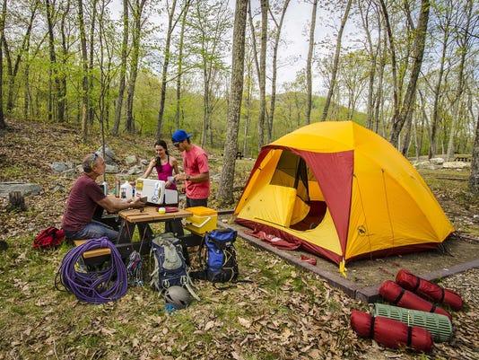 Campsite at the Samuel F. Pryor III Shawangunk Gateway Campground. Photo by Nora