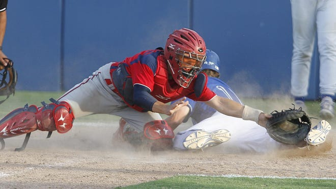Tulare Western catcher Michael Salazar, left, is the co-East Yosemite League player of the year.
