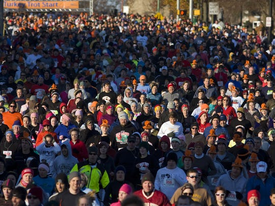 Springfield's  Turkey Trot has become the largest Thanksgiving
