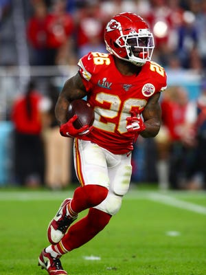 Kansas City Chiefs running back Damien Williams (26) has opted to sit out the 2020 season over coronavirus concerns.