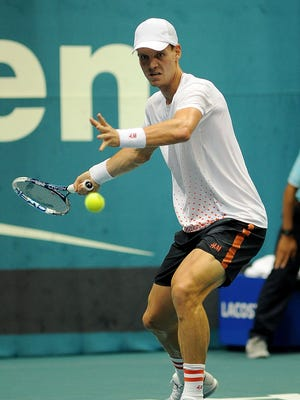 Tomas Berdych of the Czech Republic is into the semifinals in Bangkok.