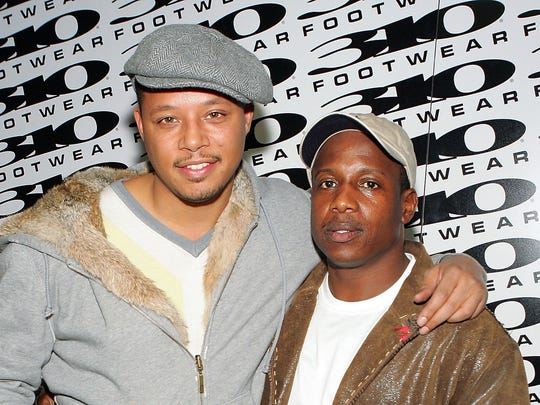 Actor Terrence Howard, left, in 2006 with superstar car broker Marc Laidler, who helped coordinate Audrey Cretser's lease of the Rolls.