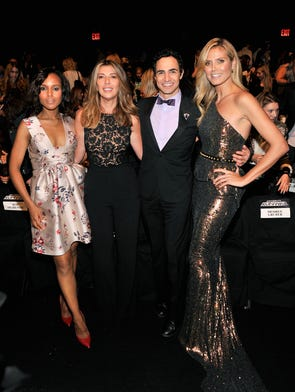 Project Runway's Season 12 finale show kicked off Day 2 of New York Fashion Week.  Judges Heidi Klum, Zac Posen, Nina Garcia and guest judge Kerry Washington strike a pose.