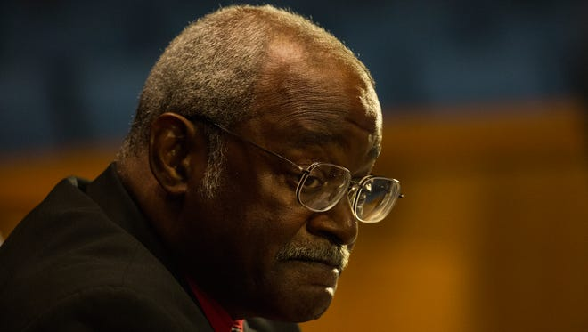 Wilmington City Council member Samuel Guy expresses his disappointment in how money has been allocated to officials over the years and his concerns with future council members not getting a fair cut towards the end of the council meeting Thursday night.