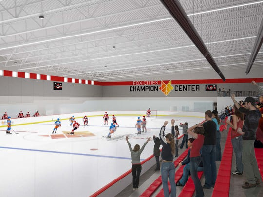 The Fox Cities Champion Center in Grand Chute will have two sheets of ice.