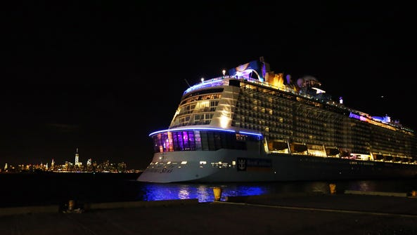 Weary travelers aboard the Anthem of the Seas Royal