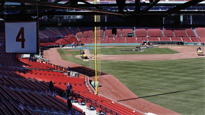 Mike Kickham was at Fenway Park working out early Saturday.