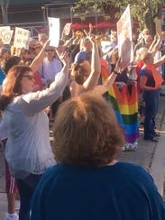 Approximately 200 people attended Standing in Solidarity