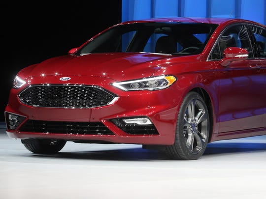 The 2017 Ford Fusion after it was revealed during the