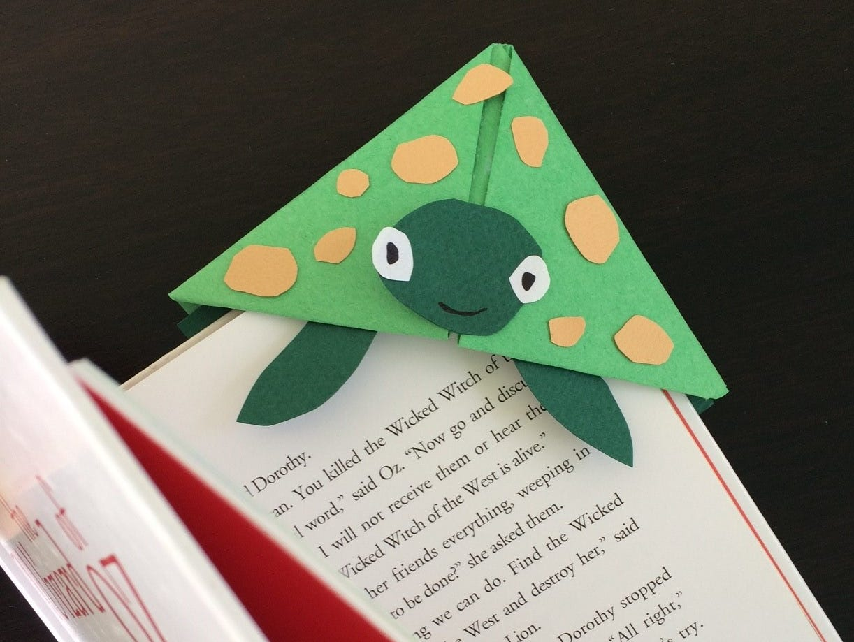 A fun project for kids. They can create corner bookmarks so they never lose their place when reading.