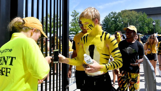 Missouri fans enter the gates of Memorial Stadium before a 2018 game against Tennessee-Martin.