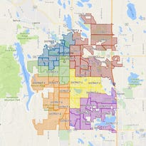 Map: Fort Collins City Council districts