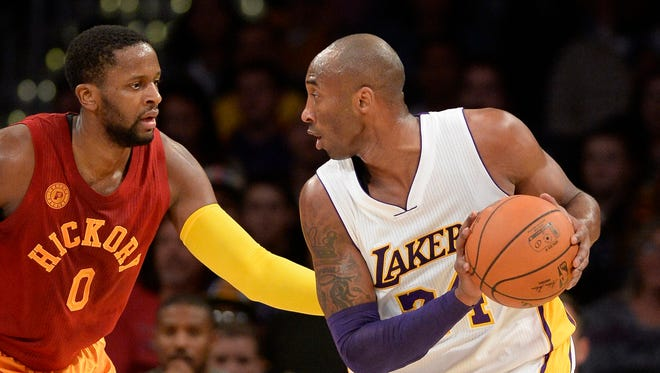 Kobe Bryant (24) scored 13 points on 4-for-20 shooting in a loss to the Pacers.