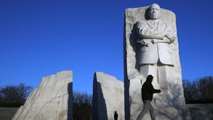 People visit the Martin Luther King, Jr. Memorial on MLK Day, Monday, Jan. 21, 2019, in Washington.