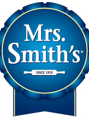 A Mrs. Smith's Pie Company logo.
