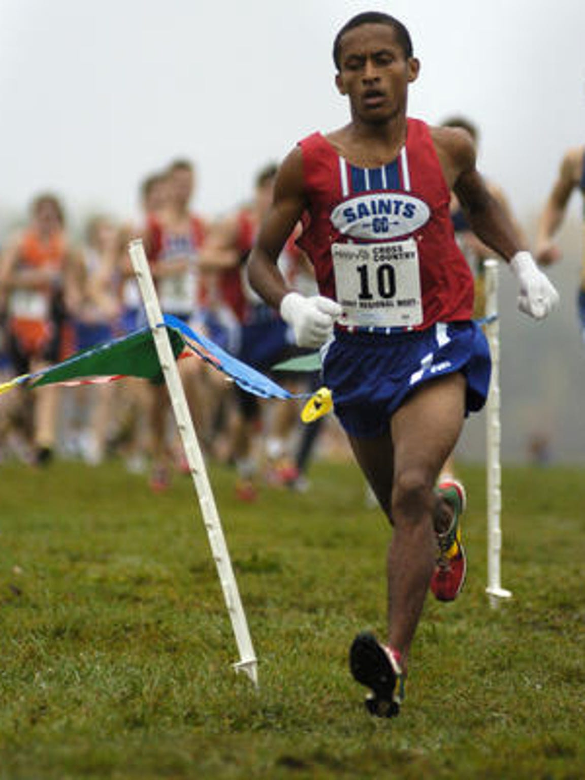 St. Clair High School graduate Addis Habtewold during a meet in 2007.
