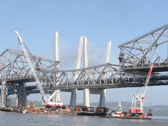 A view of demolition of the Tappan Zee Bridge as Gov.