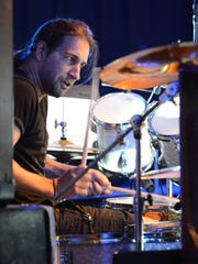 Brian Tichy performs Friday, May 11, 2018, at Lancaster High School. Tichy was at the school for a percussion clinic and to perform with the LHS Percussion Ensemble. Tichy, a professional drummer, has performed with artists like Ozzy Osbourne, Velvet Revolver, Foreigner, Billy Idol and Whitesnake.