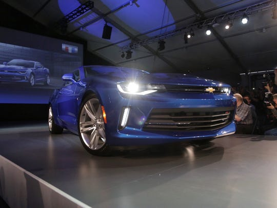 Chevrolet reveals the 2016 Camaro on Saturday on Belle Isle in Detroit. It's the sixth generation of a car that was born 49 years ago to compete with the Ford Mustang.