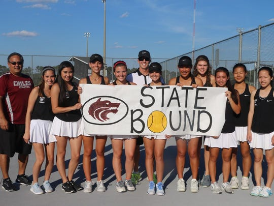 The Chiles girls tennis team reached the state tournament for the first time in over 10 years with a 4-0 victory over Niceville on Thursday.