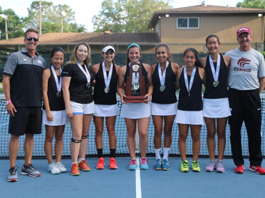 The Chiles girls tennis team beat Pace and Creekside in Orlando, then fell 4-3 to Gulf Coast to settle for 3A state runner-up.