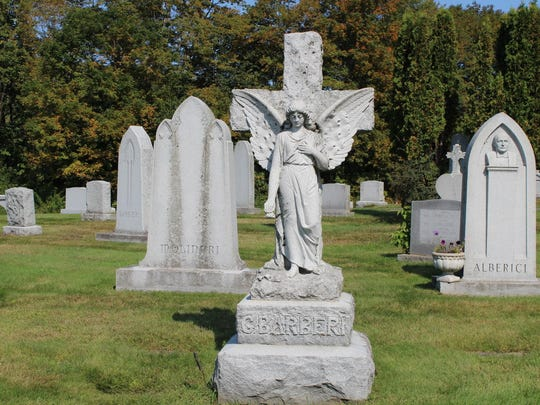 Monuments at Hope Cemetery show the granite carvers' skill and ingenuity.