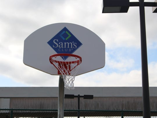 The Sam's Club basketball hoop at Hollis T. Williams park.