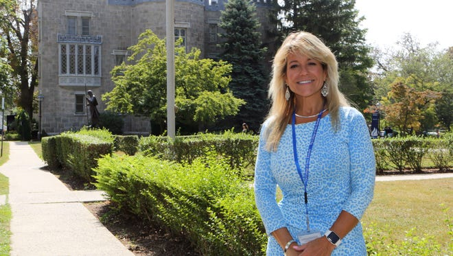 Judith A. Huntington, the President of The College of New Rochelle, is pictured on campus, Sept, 9, 2016.