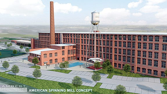A Virginia firm plans to turn the Sampson Mill that once housed the American Spinning Company into apartment lofts.