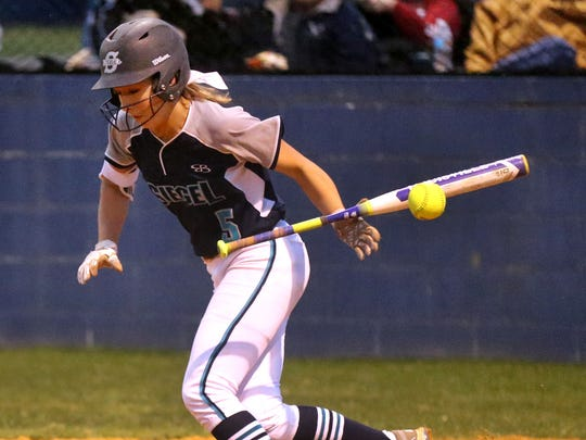 Siegel's Ciera Purvis makes contact during a game last