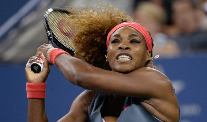Serena Williams had control early in her opening-round match against Francesca Schiavone, winning the first set 6-0.