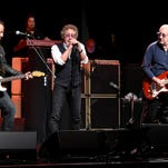 Bruce Springsteen, Roger Daltrey and Pete Townshend perform at the 11th Annual Musicares Map Fund Benefit concert at Best Buy Theater on Thursday in New York City.