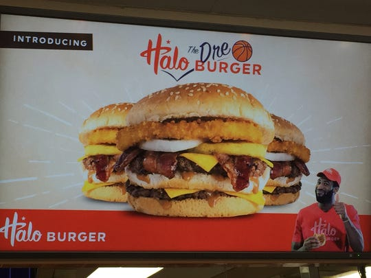 The Dre Burger at Halo Burger