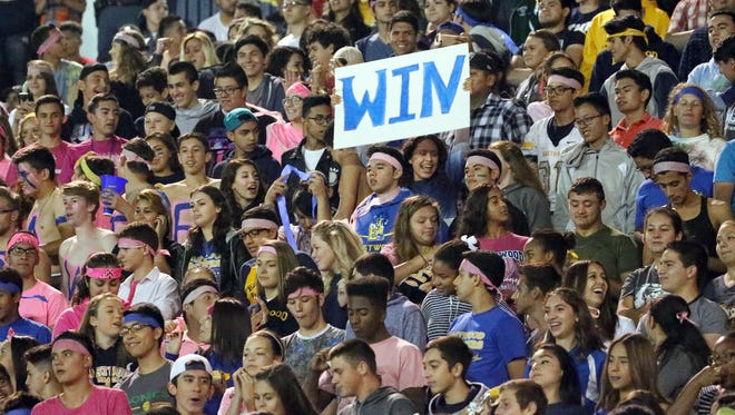 Eastwood students and fans packed their stadium to watch their team play El Dorado Friday night.