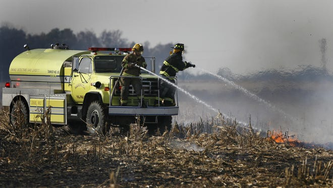 Dry ground, low humidity and gusty winds have created an enhanced fire hazard in East Central Indiana, according to the National Weather Service.