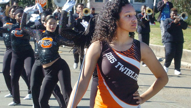 The Opelousas High School Twirlers head up the OHS Band as they march in the Martin Luther King, Jr.  Parade Monday in Opelousas. See more photos at dailyworld.com and on Facebook.