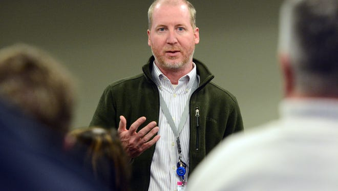 Dr. Matthew Howie, executive director of the York Regional Opiate Collaborative, answers questions on addiction during an educational forum on heroin, Wednesday, March 22, 2017.  John A. Pavoncello photo