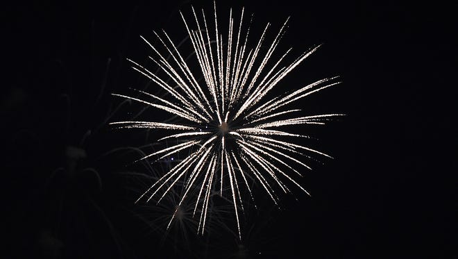 Lewes held their First Fireworks display at Lewes Beach on the Delaware Bay on Wednesday July 4th. Special to the News Journal / CHUCK SNYDER