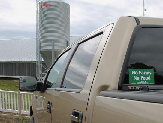 Kimber Ward's truck carries the ubiquitous Delmarva